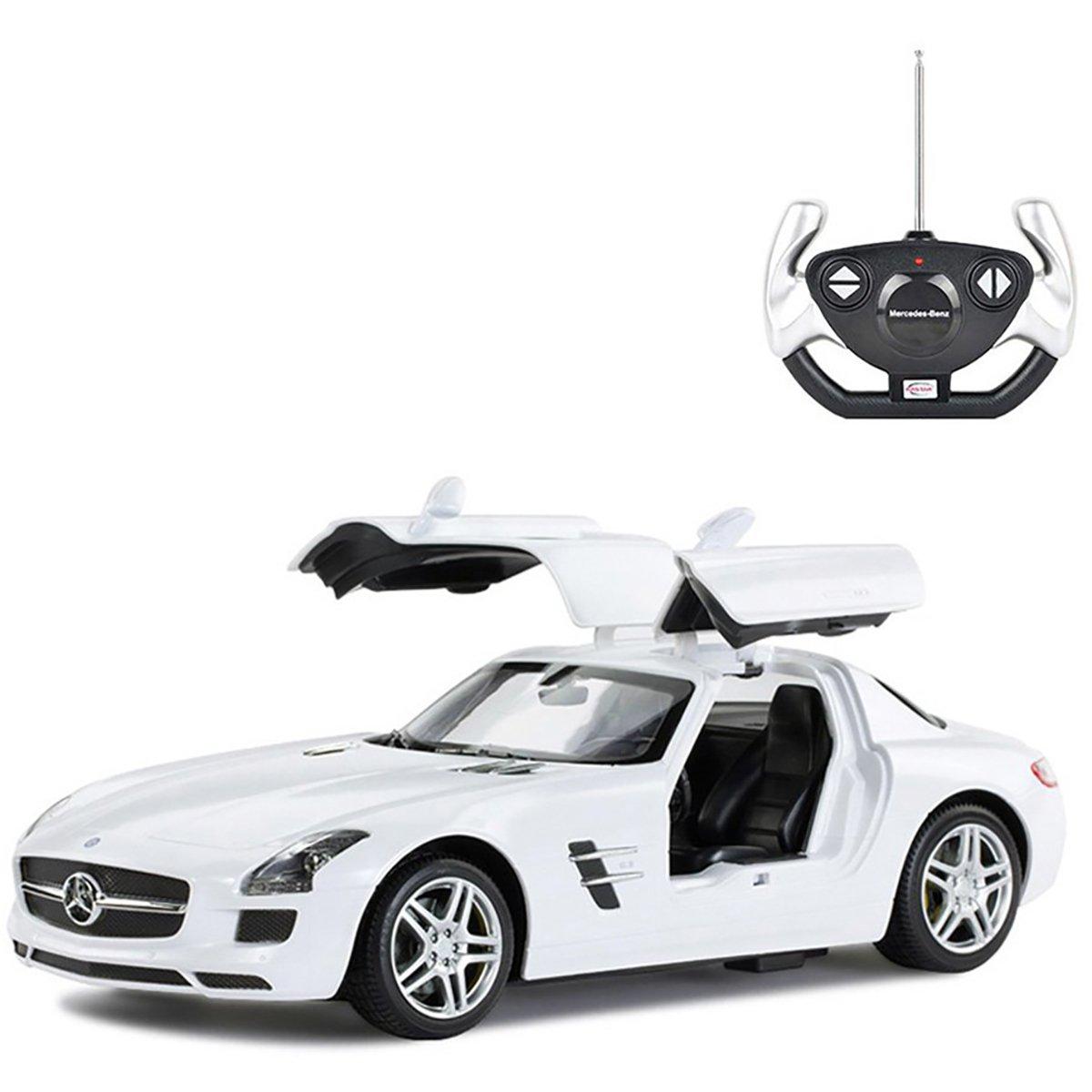 Masina cu telecomanda Rastar Mercedes Benz SLS AMG 1:14, Alb