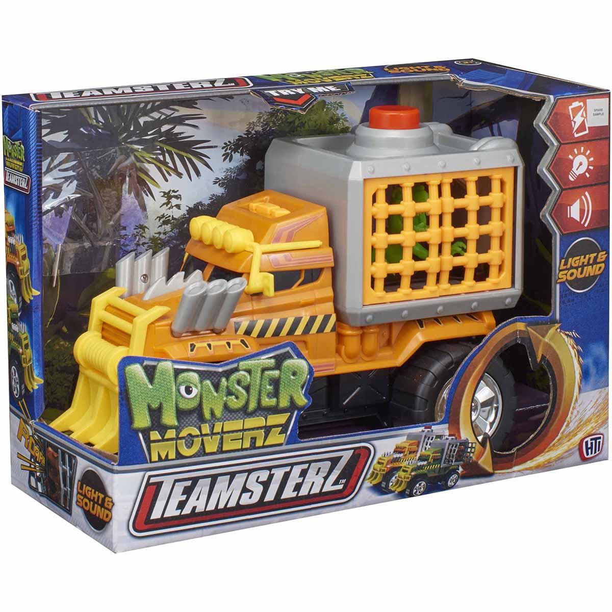 Masinuta cu lumini si sunete Teamsterz, Monster Dino Escape, Portocaliu