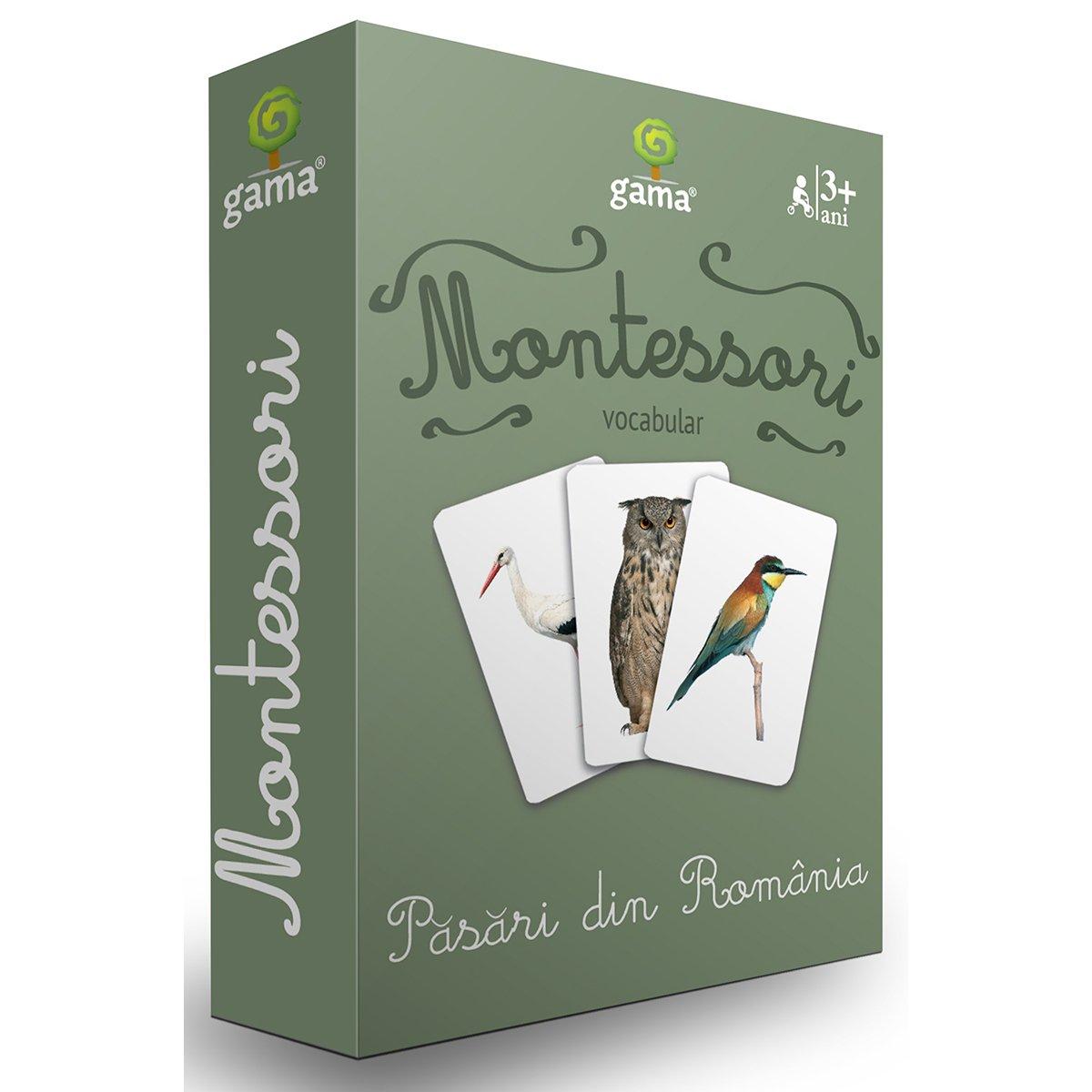 Editura Gama, Carti de joc educative Montessori Seria 4, Pasari din Romania