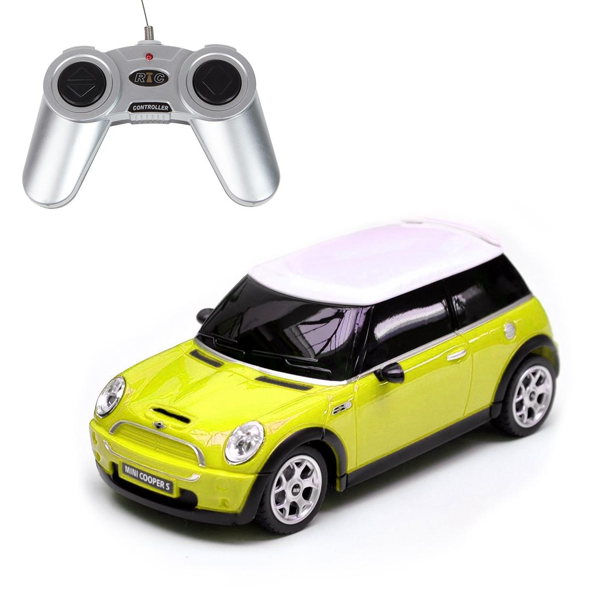 Masina cu telecomanda Rastar Mini Cooper S. 1:18. Galben