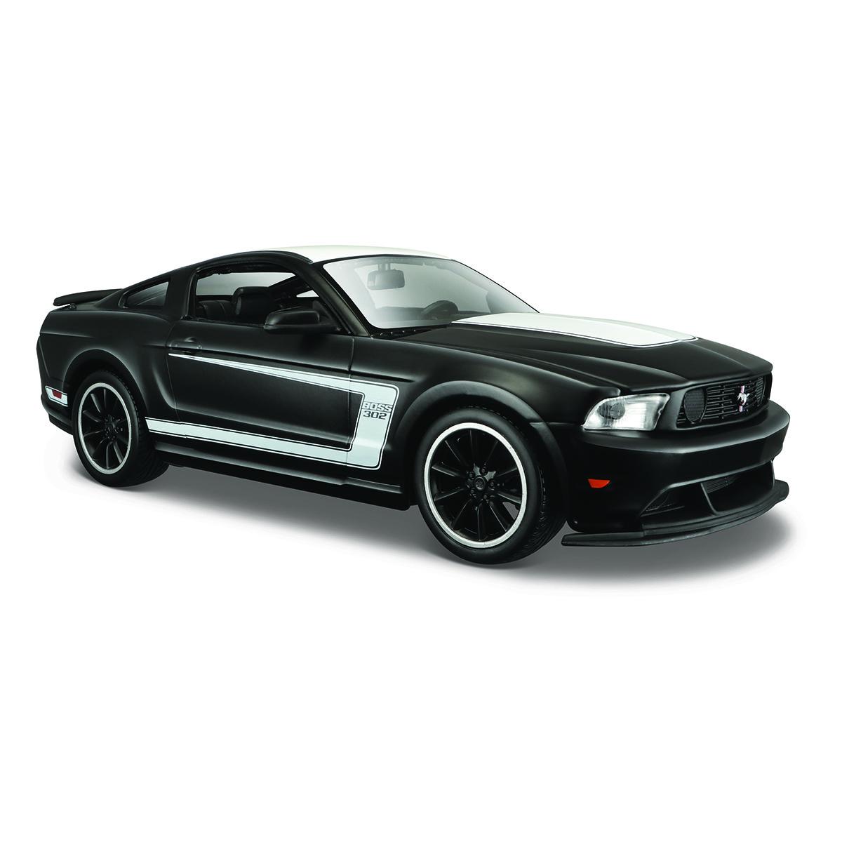 Masinuta Maisto Ford Mustang Boss 302. 1:24. Negru mat