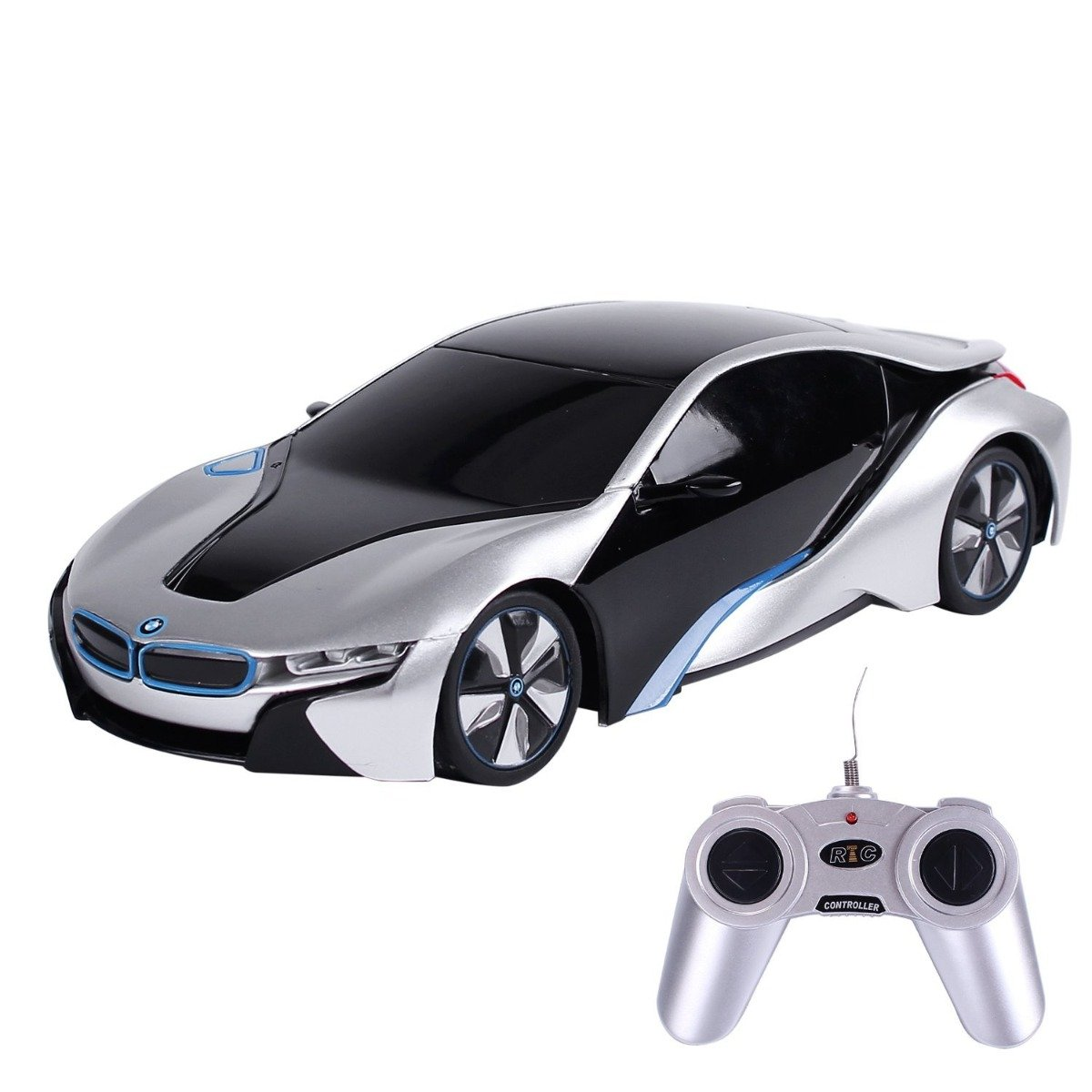 Masina cu telecomanda Rastar BMW I8. 1:24. Gri
