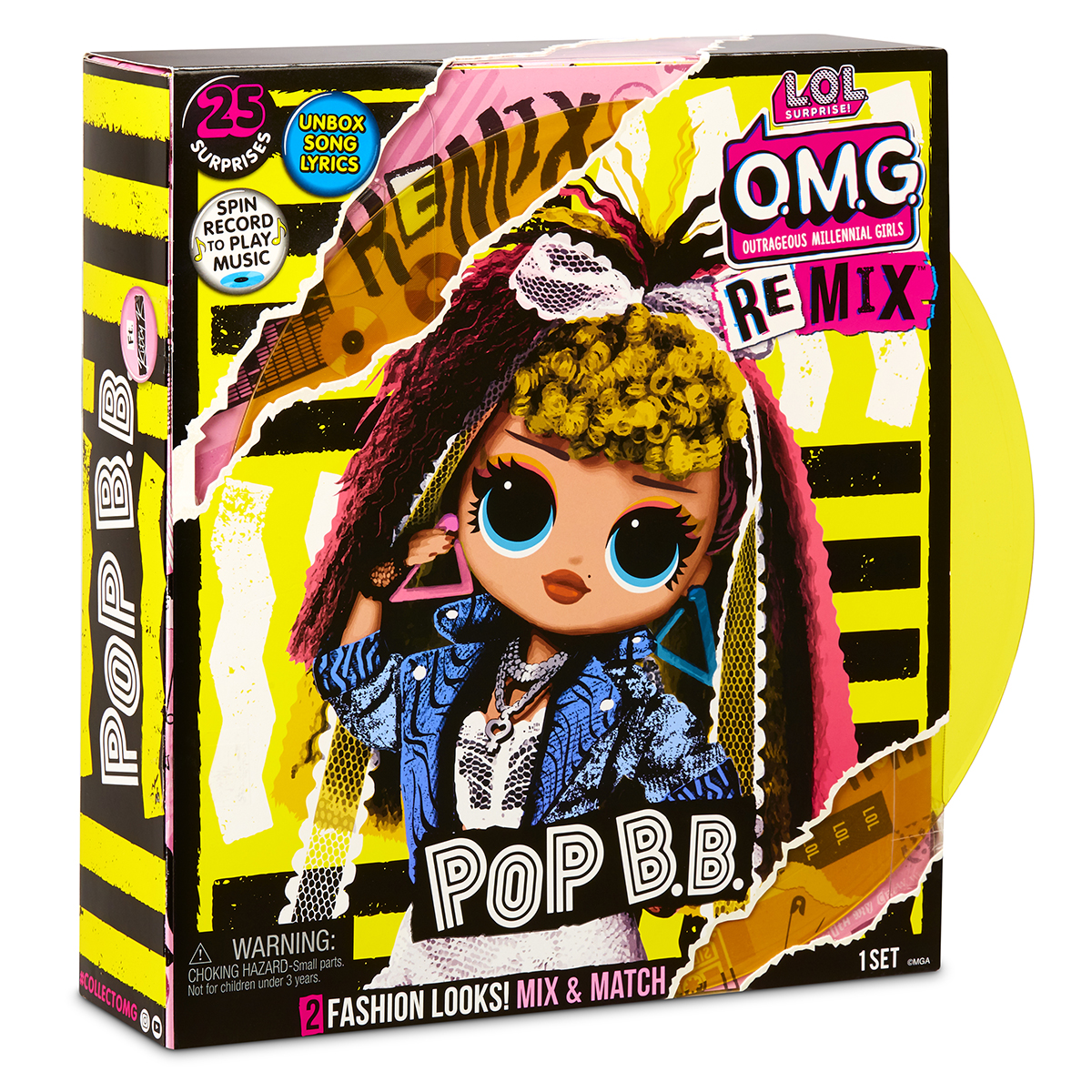 LOL Surprise OMG Remix. Papusa Fashion Pop BB cu 25 de surprize. 567257E7C