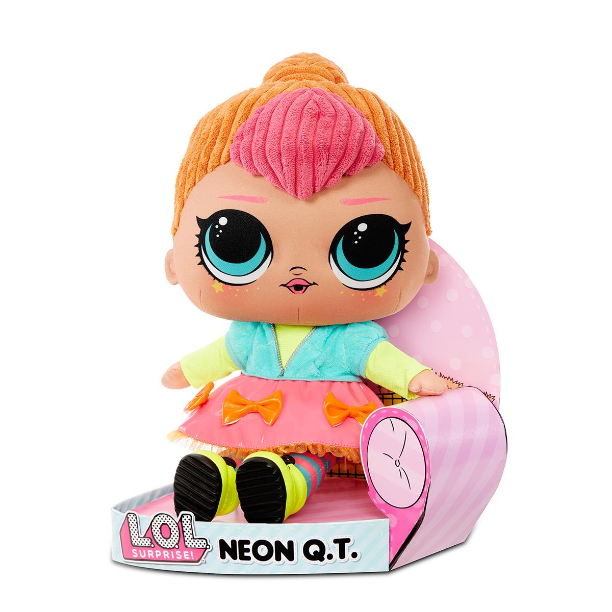 LOL Surprise Plush. Papusa Neon QT din plus moale. 571308E7C