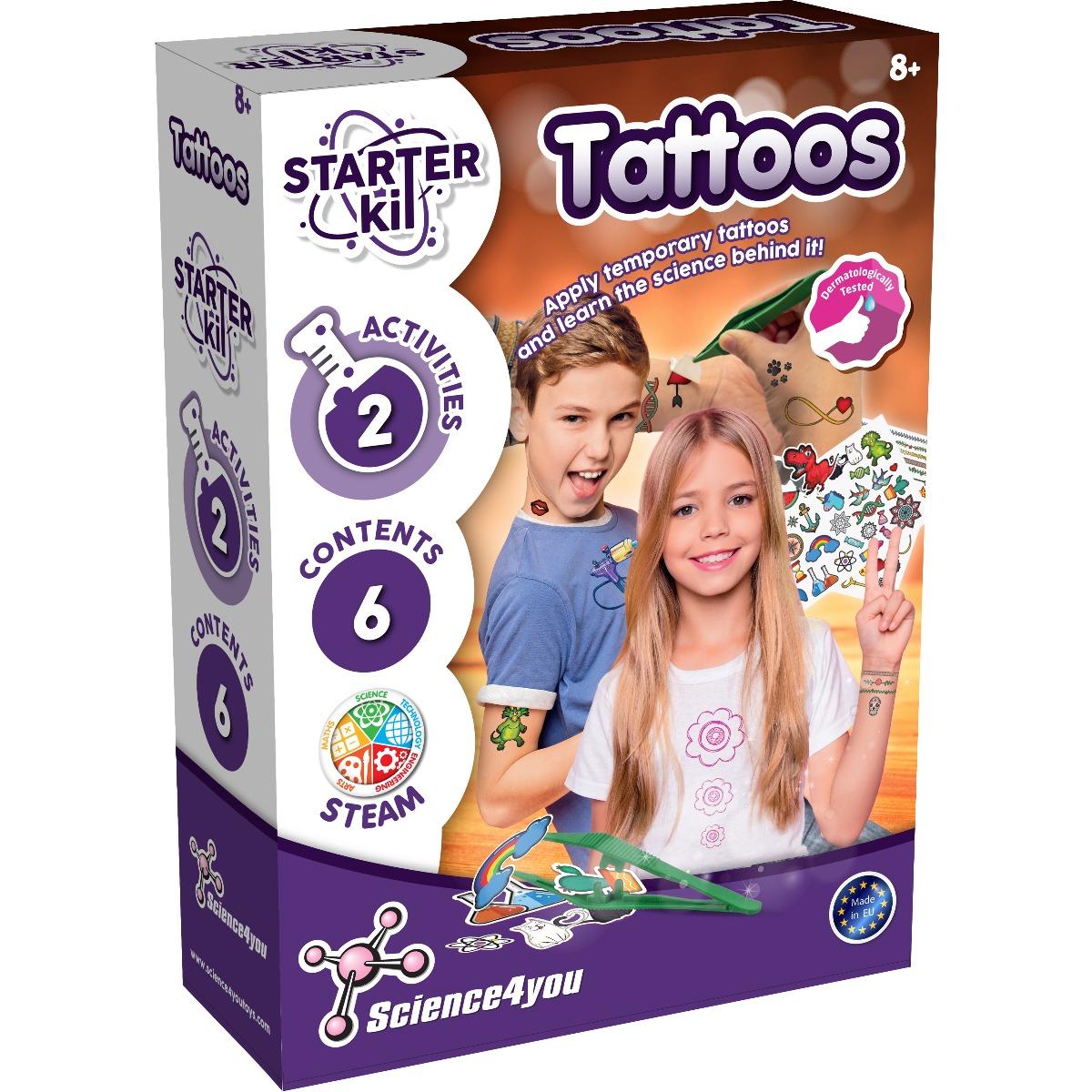 Joc educativ Science4you Starter Kit. Tatuaje