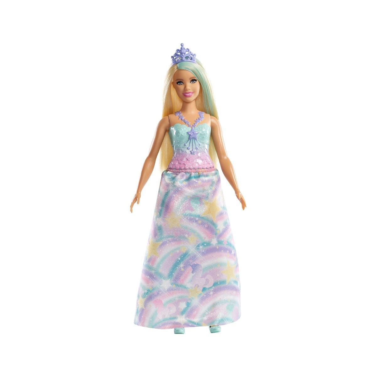Papusa Barbie Dreamtopia Printesa. Verde (FXT14)