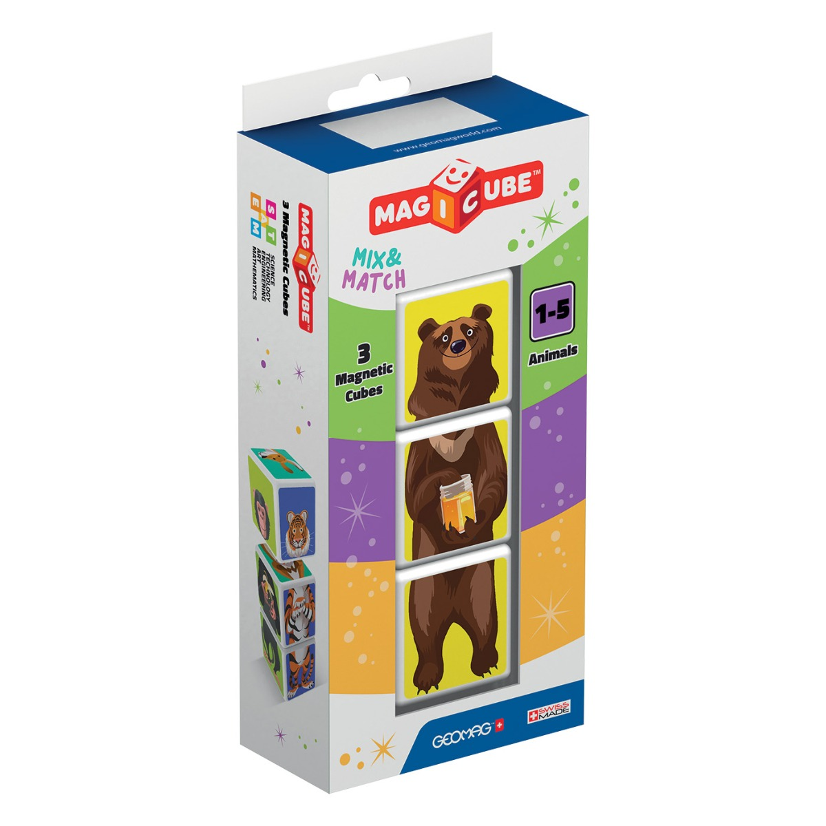 Joc de constructie magnetic Magic Cube. People Animals