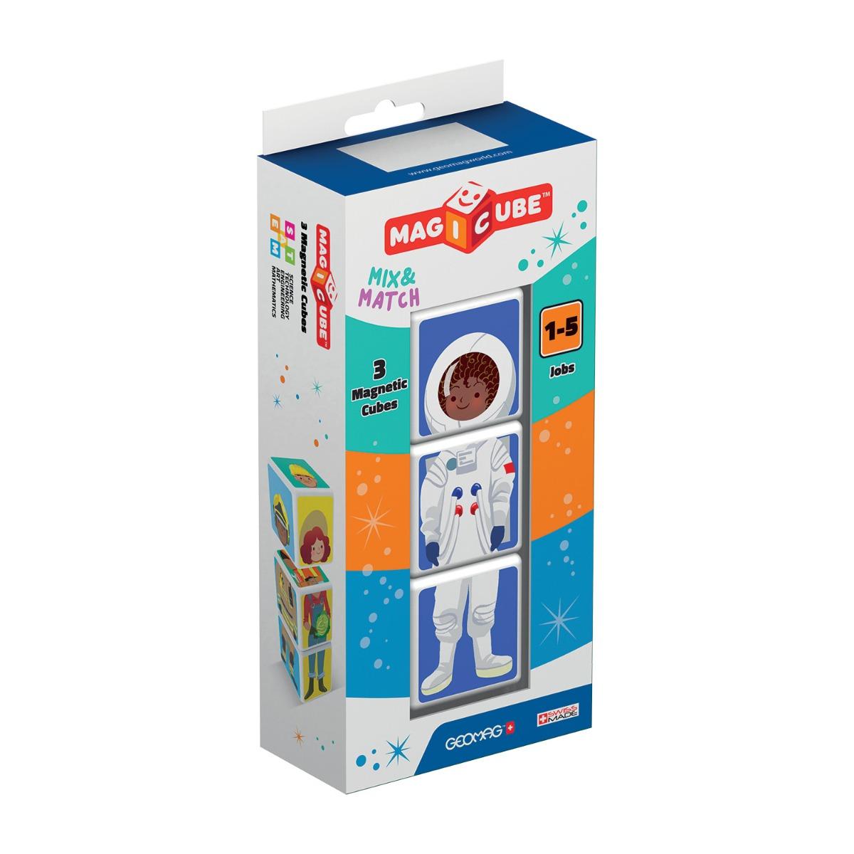 Joc de constructie magnetic Magic Cube. Meserii