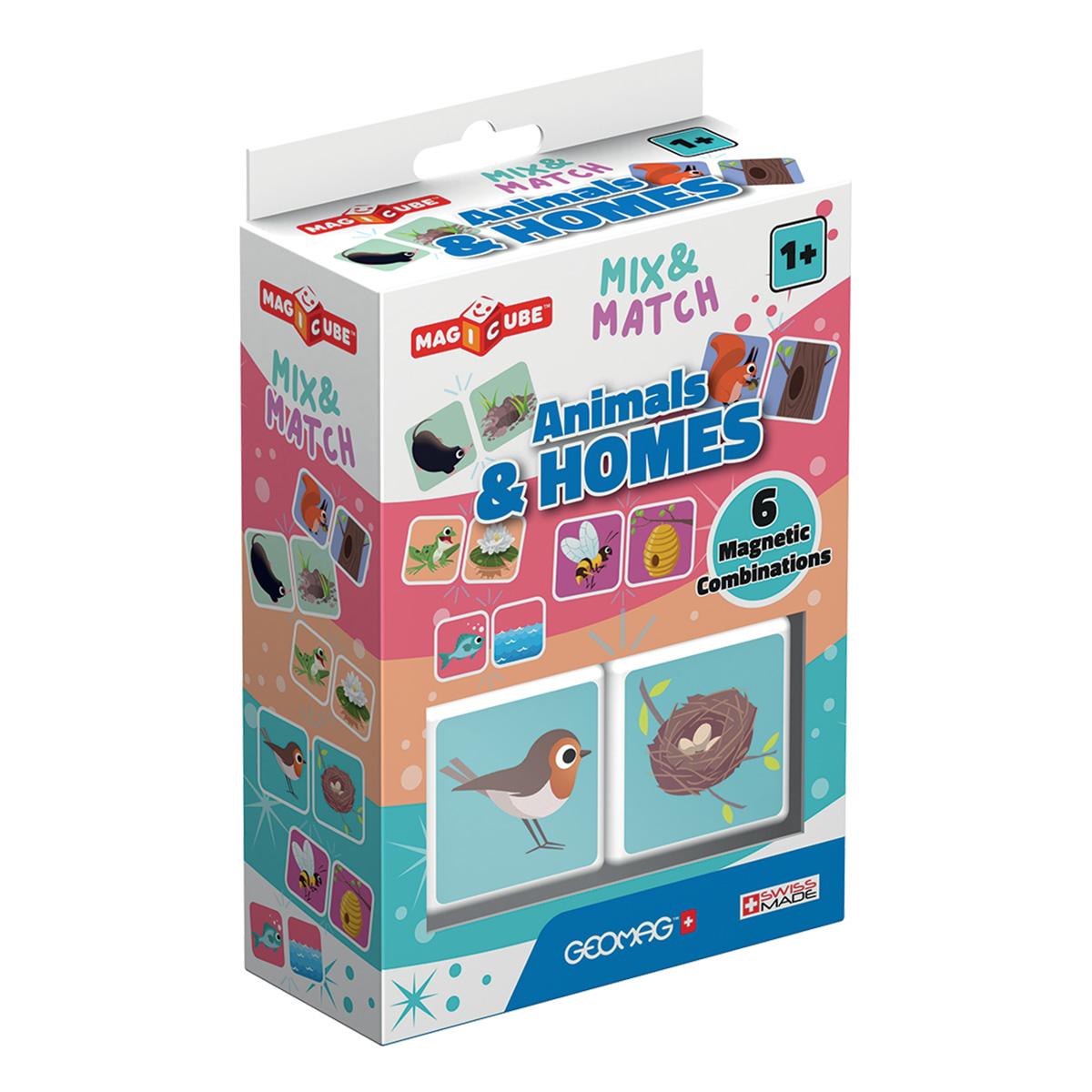 Joc de constructie magnetic Magic Cube. Animals and homes