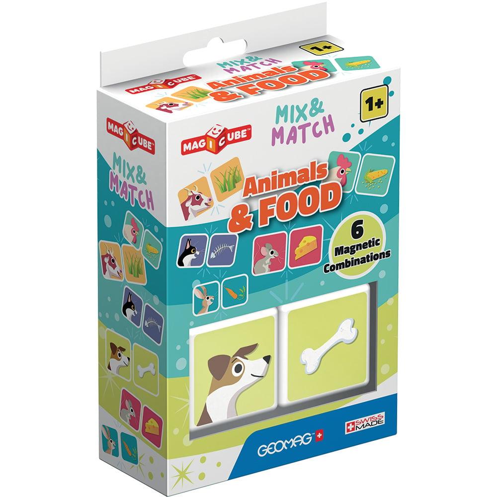 Joc de constructie magnetic Magic Cube. Animals and Food