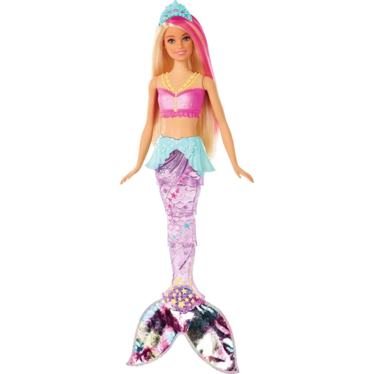 Papusa Barbie Dreamtopia - Sirena cu lumini