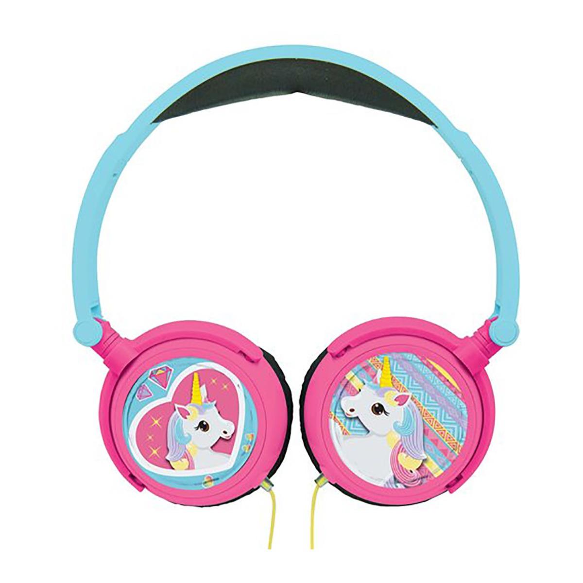 Casti audio cu fir pliabile Lexibook. Unicorni