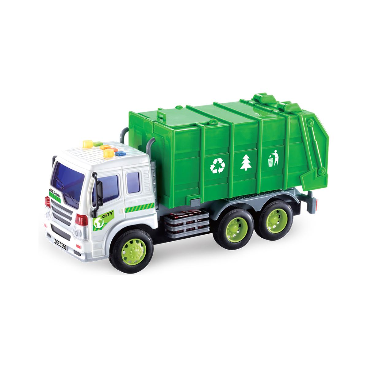 Masina de reciclare cu lumini si sunete Cool Machines. Verde