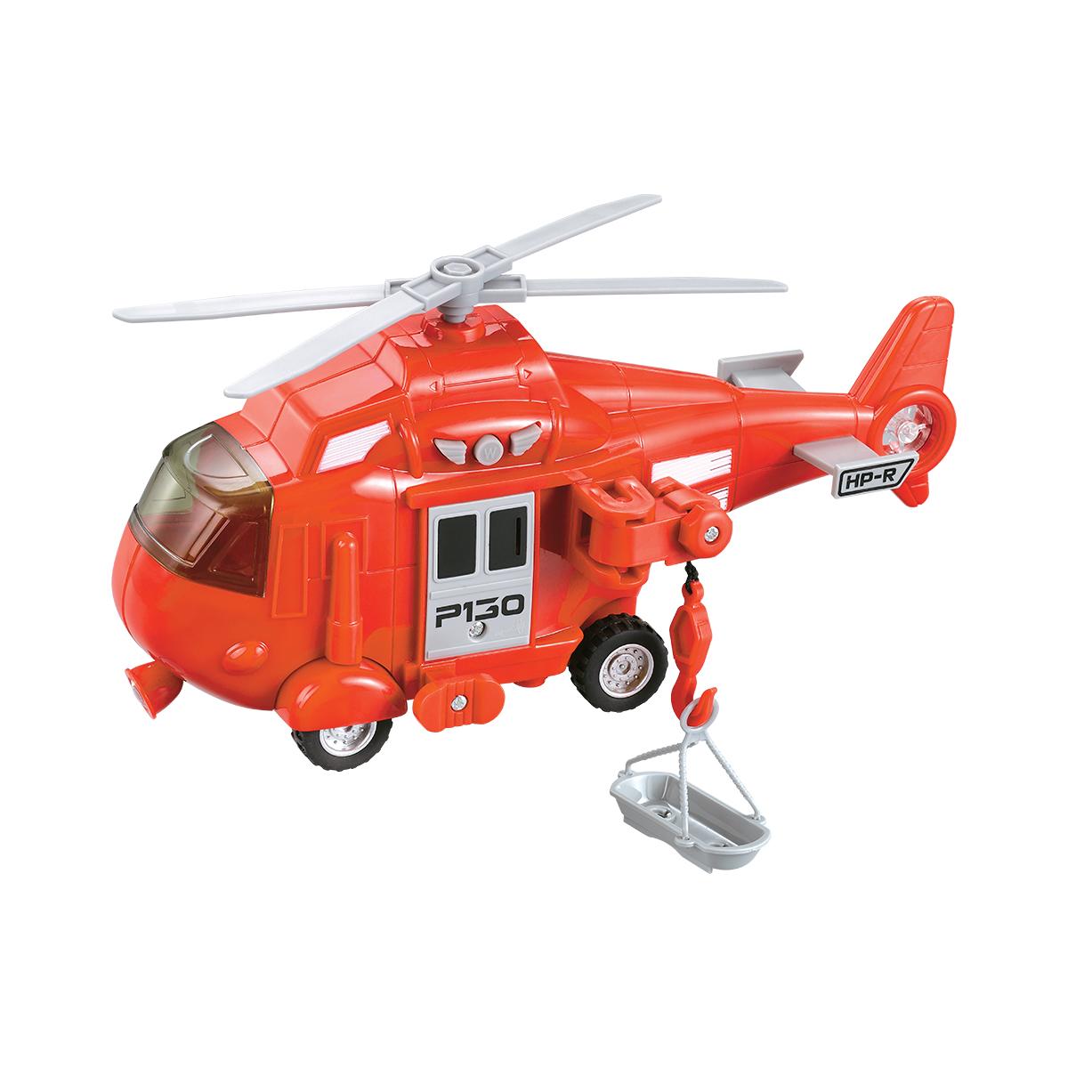 Elicopter cu lumini si sunete Cool Machines. Rosu
