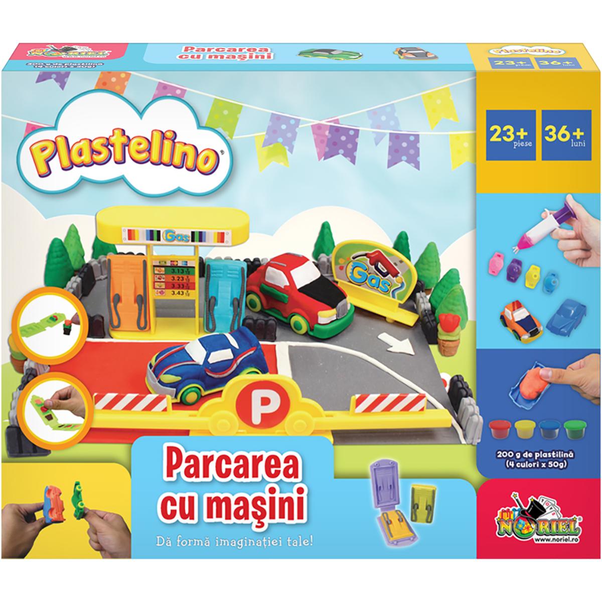 Set de joaca Plastelino. Parcarea cu masini