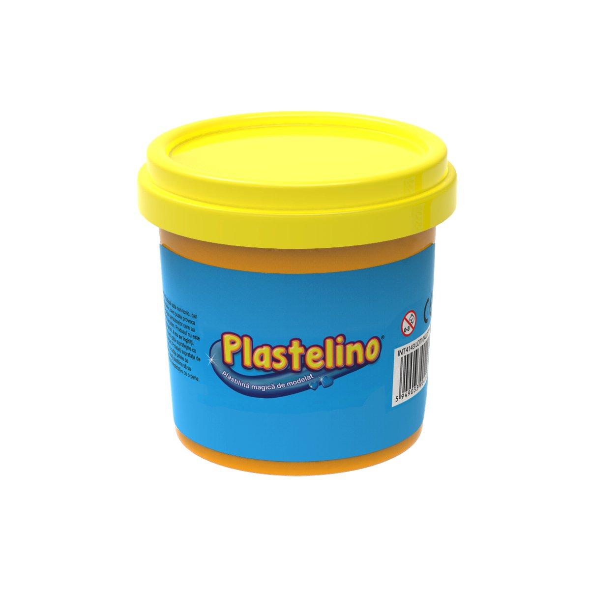 Plastelino - Tub de plastilina. Galben