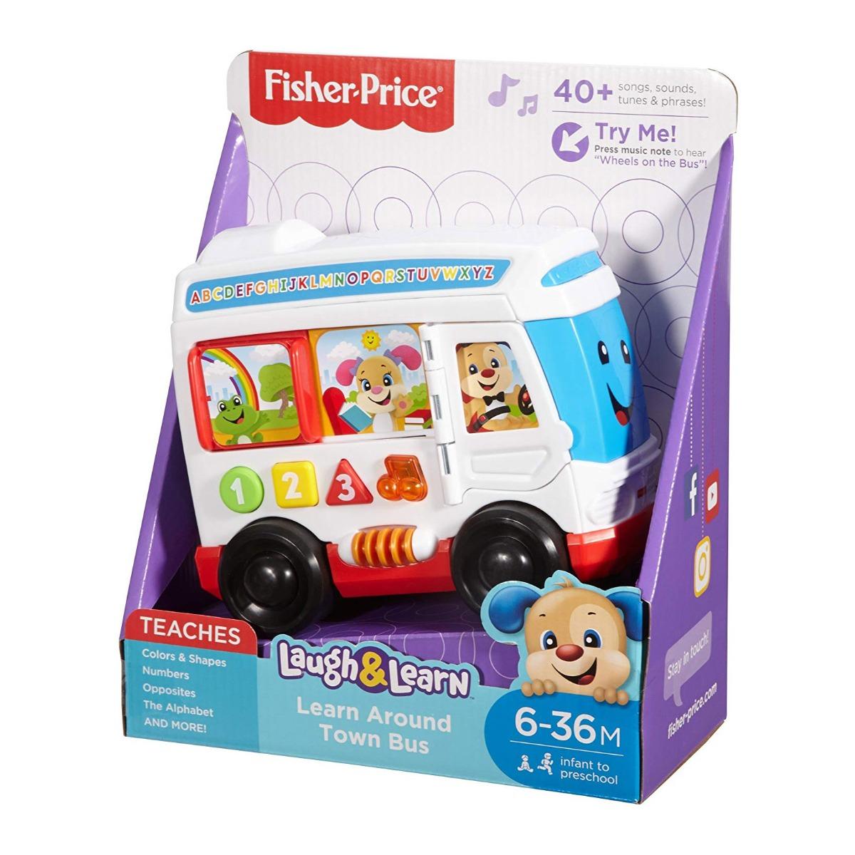 Jucarie bebelusi Fisher Price - Autobuzul cu sunete