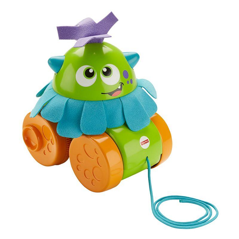 Jucarie pentru bebelusi Fisher Price Walk & Whirl Monster. Verde. FHG01