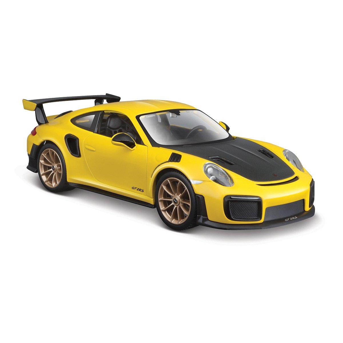 Masinuta Maisto Porsche 911 GT2 RS. 1:24. Galben