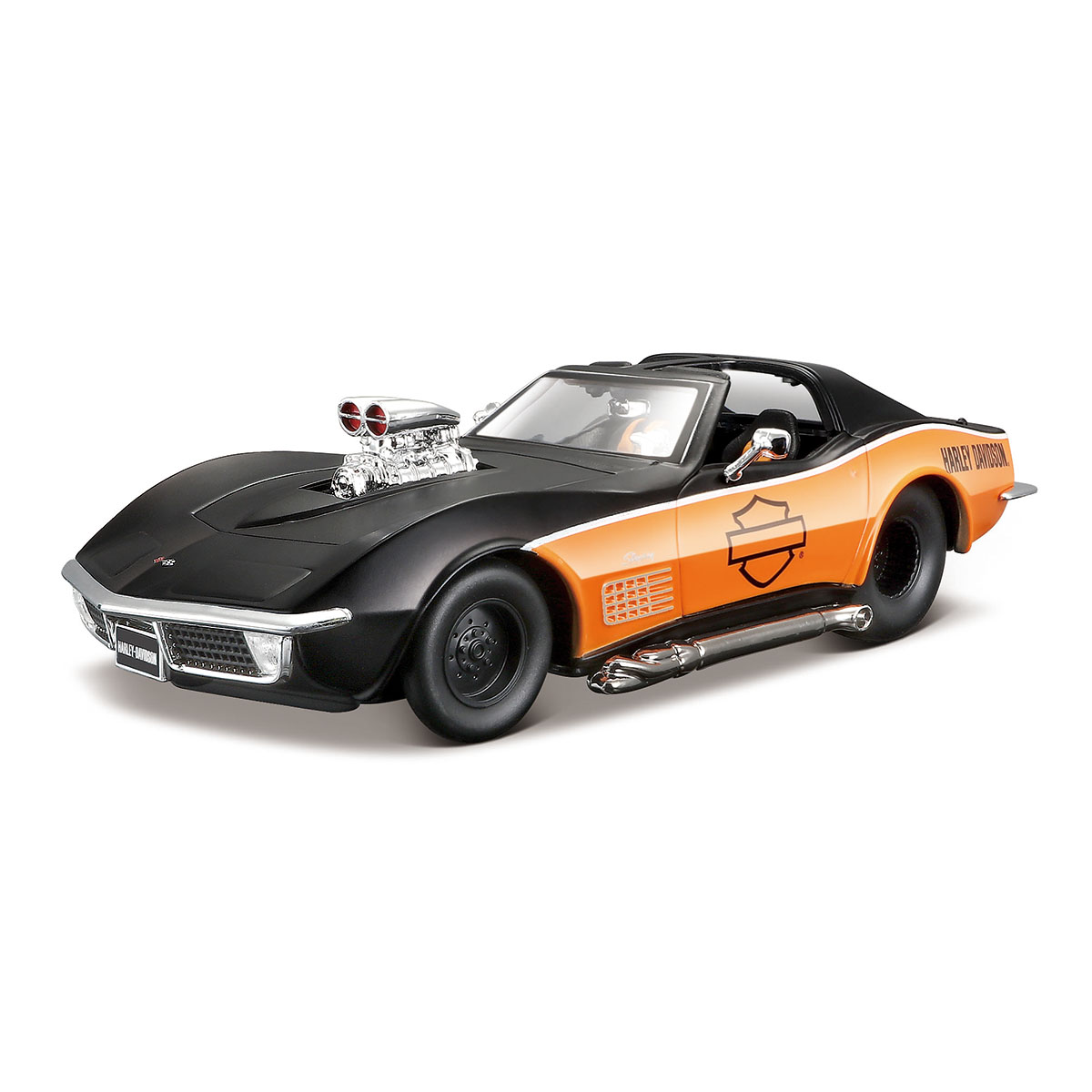 Masinuta Maisto Chevrolet Corvette. 1970. 1:24 Negru