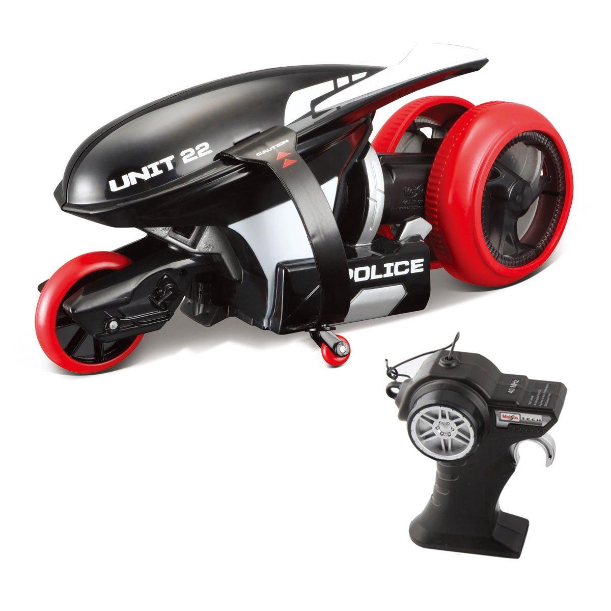 Motocicleta cu telecomanda Cyklone 360 Maisto. Negru. 40 MHz