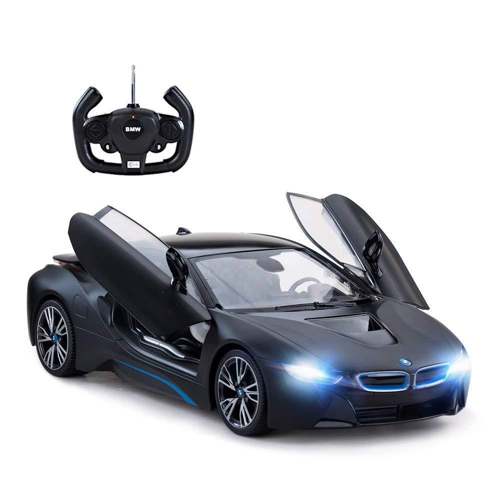Masina cu telecomanda BMW i8 Rastar. 1:14. Negru