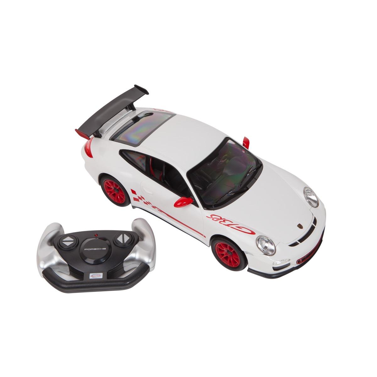 Masina cu telecomanda Rastar Porsche GT3 1:14. Alb