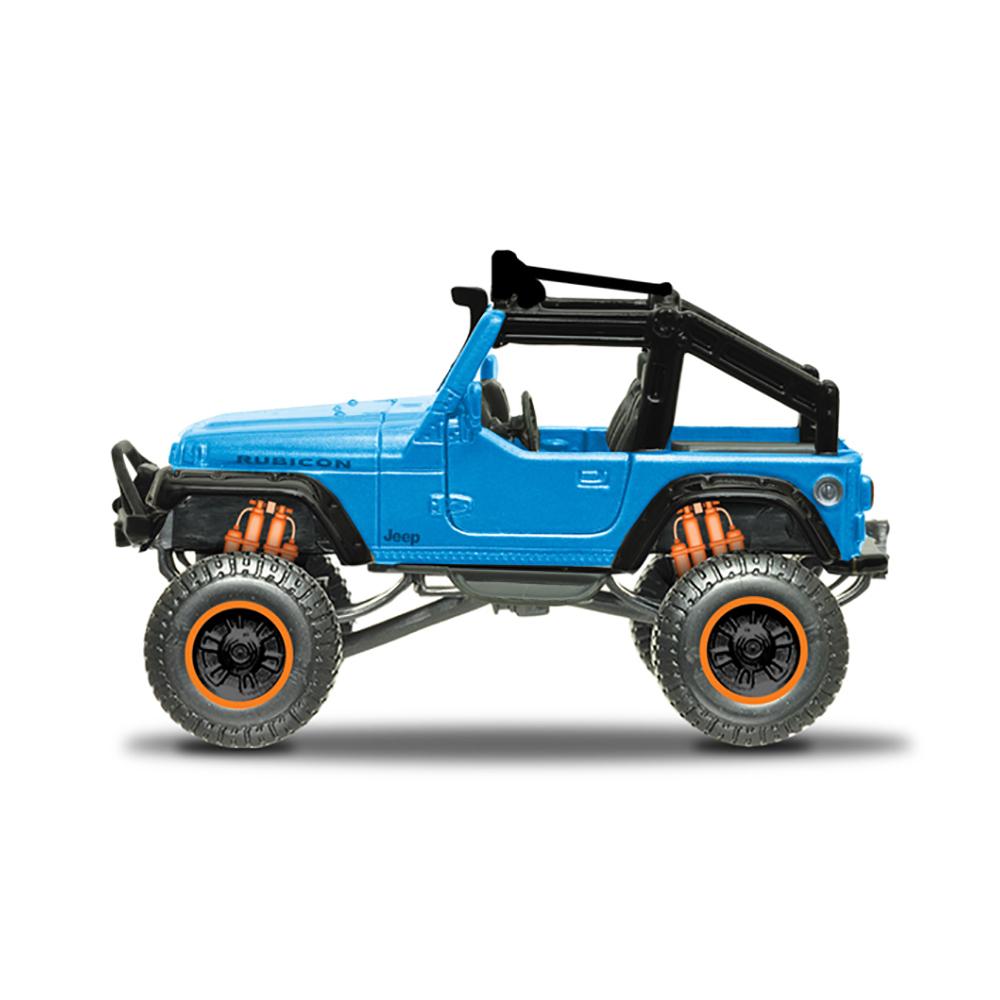 Masinuta Maisto Fresh Metal 4X4 Rebels.11 cm. Jeep albastru
