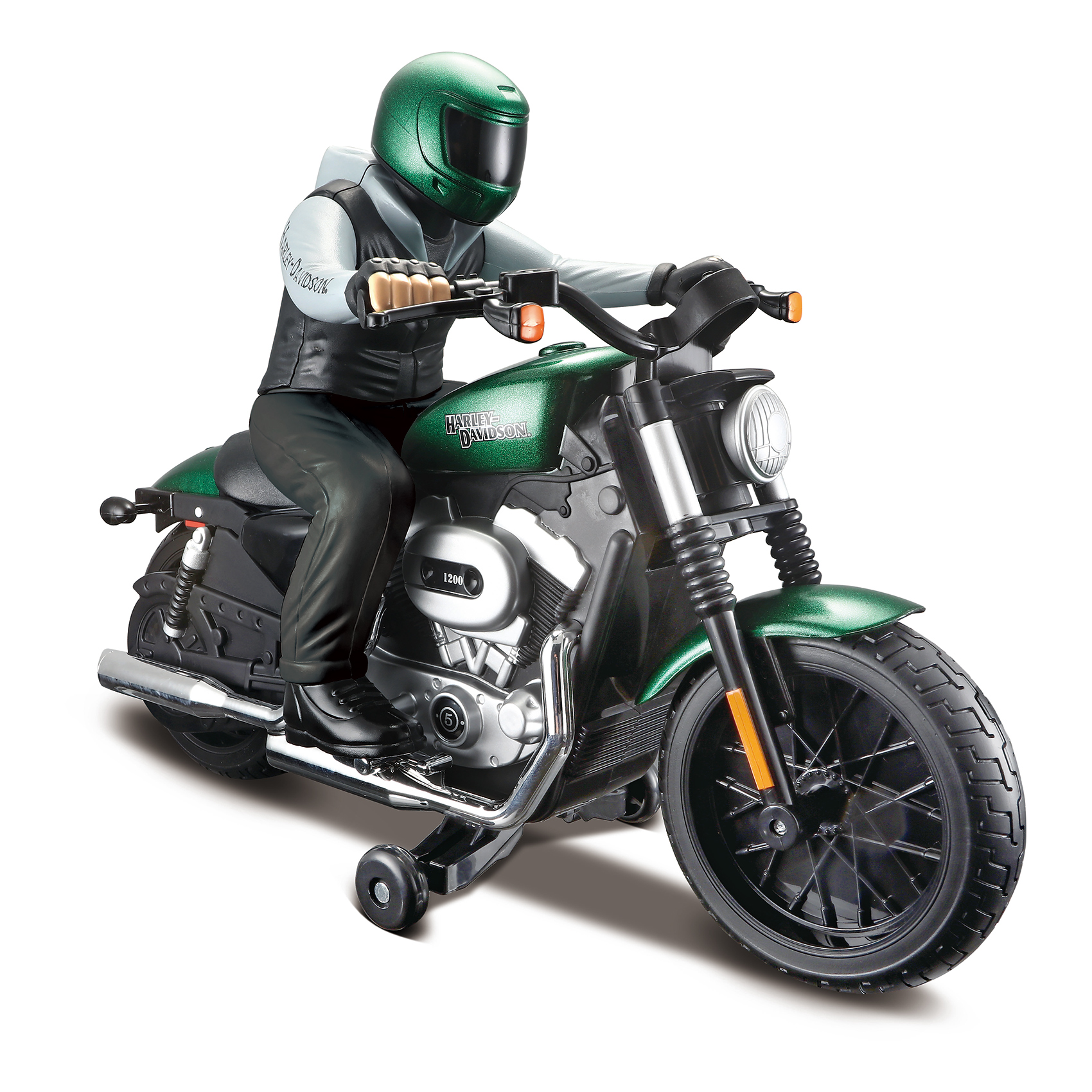 Motocicleta cu telecomanda Maisto Harley-Davidson Nightster XL 1200N. Verde