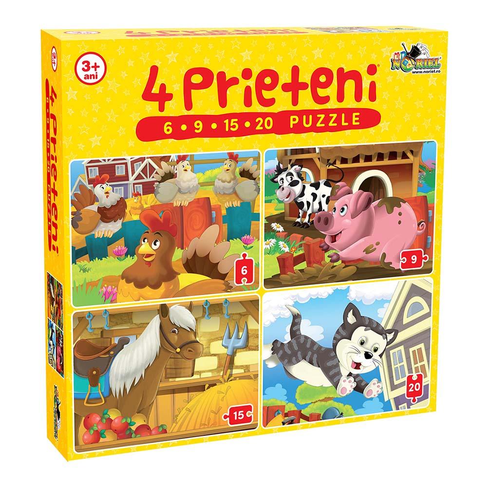 Puzzle Noriel - 4 Prieteni mici (6. 9. 15. 20 piese)