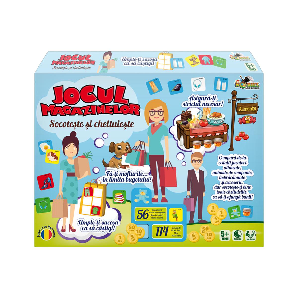 Joc educativ Noriel - Socoteste si cheltuieste. Jocul magazinelor