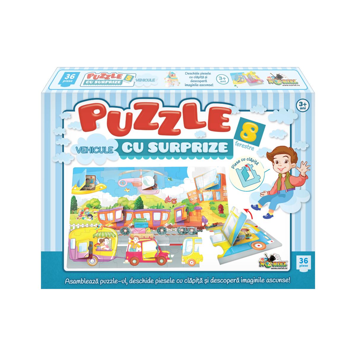 Puzzle Noriel - Vehicule cu Surprize. 36 piese
