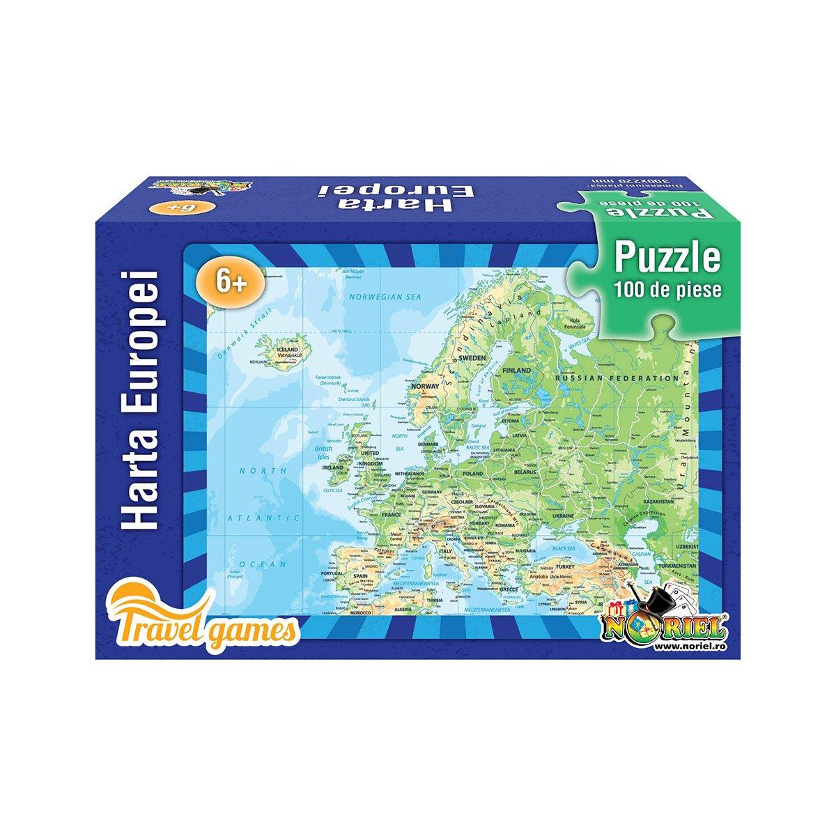 Puzzle educativ Noriel - Harta Europei. 100 piese