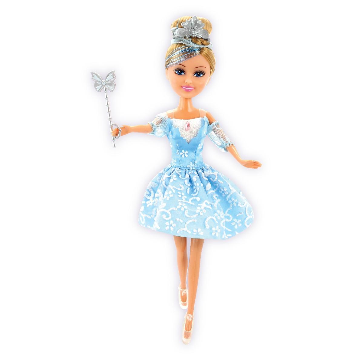 Papusa Colectia Lilia - Balerina cu rochita albastra